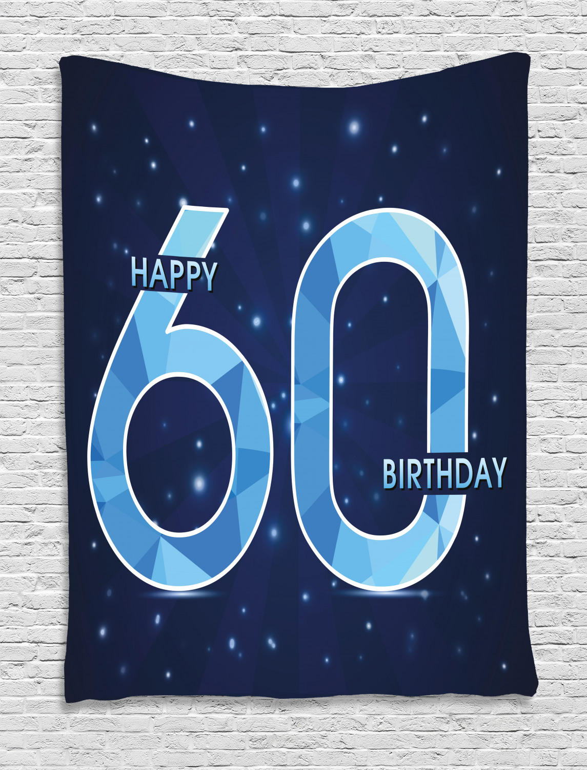 60th Birthday Tapestry Wall Hanging Decoration for Room 2 ...