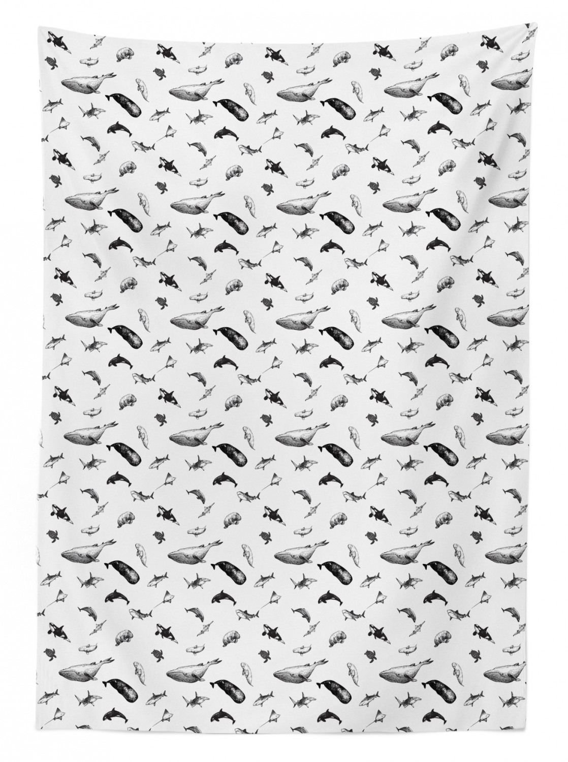 thumbnail 170 - Ambesonne Marine Pattern Tablecloth Table Cover for Dining Room Kitchen