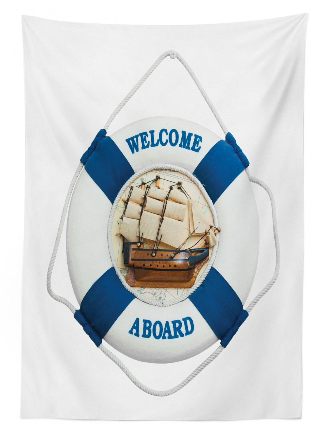 thumbnail 71 - Ambesonne Marine Pattern Tablecloth Table Cover for Dining Room Kitchen