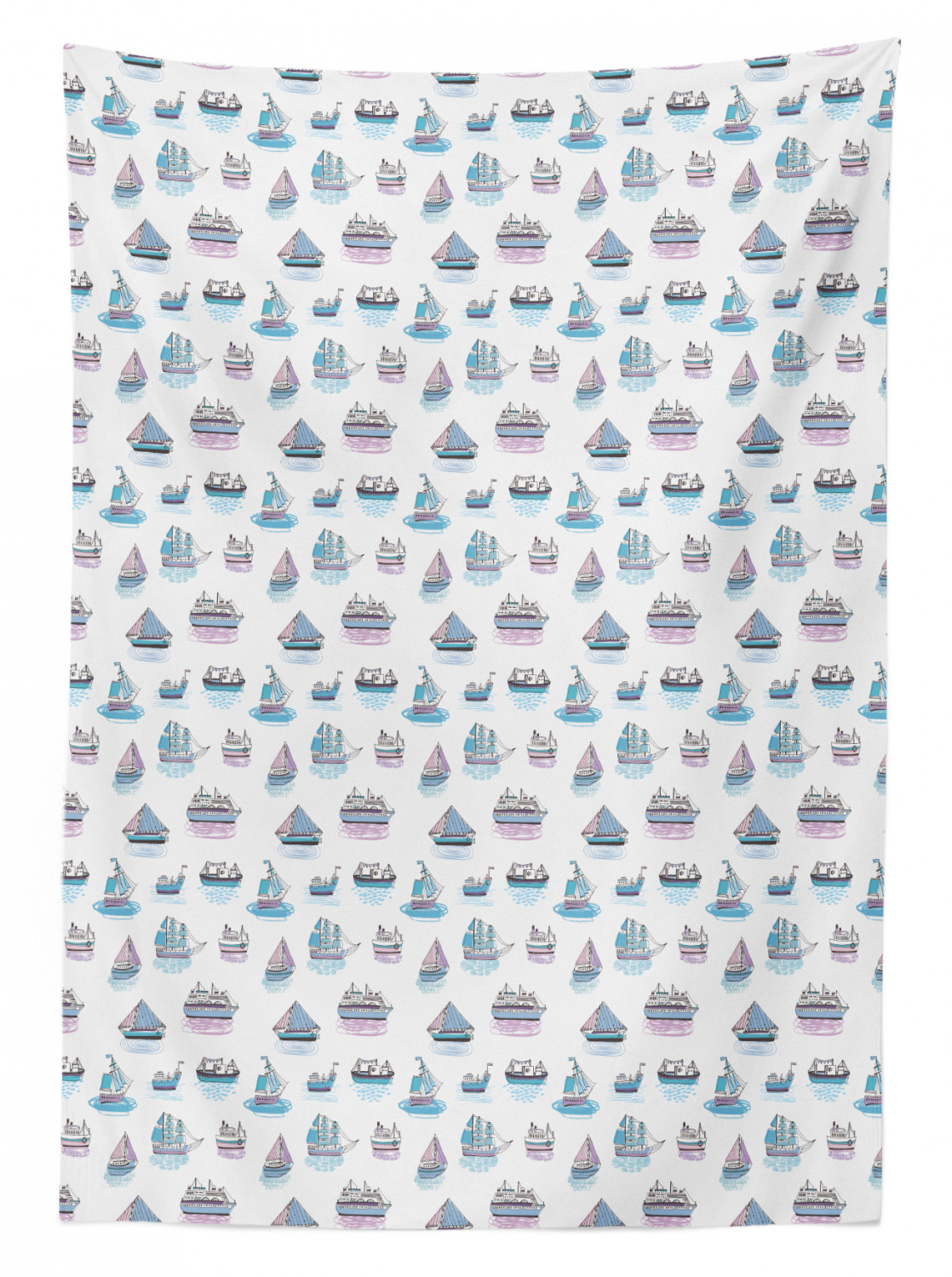 thumbnail 176 - Ambesonne Marine Pattern Tablecloth Table Cover for Dining Room Kitchen