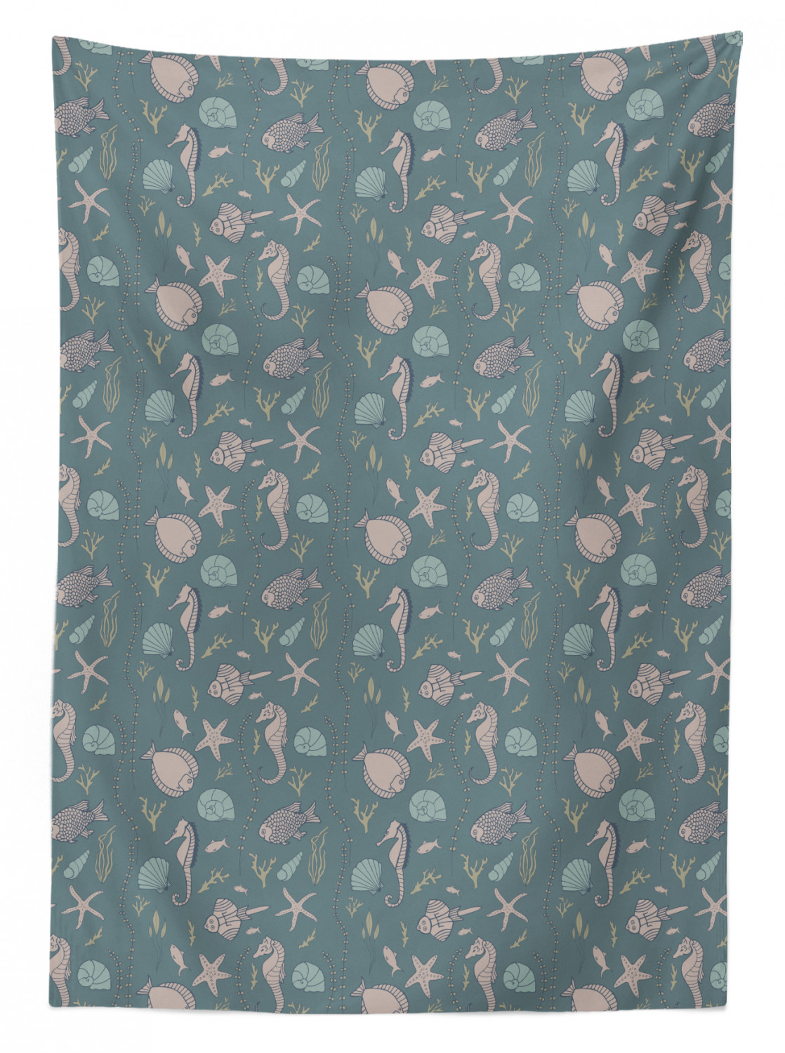 thumbnail 167 - Ambesonne Marine Pattern Tablecloth Table Cover for Dining Room Kitchen