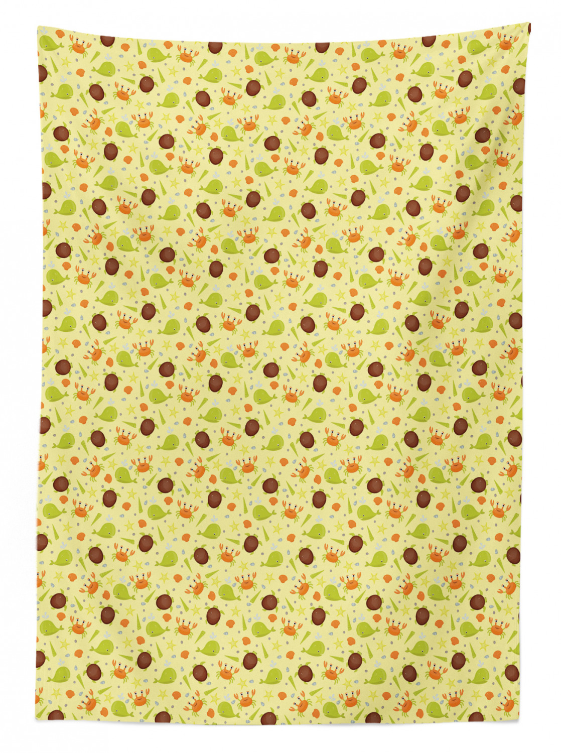 thumbnail 179 - Ambesonne Marine Pattern Tablecloth Table Cover for Dining Room Kitchen