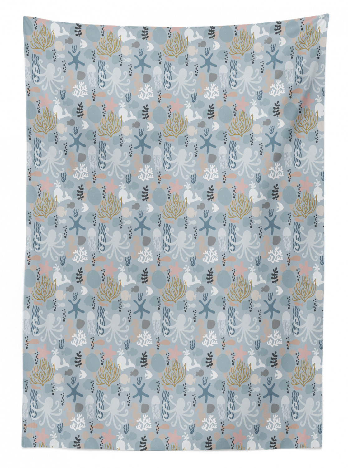 thumbnail 74 - Ambesonne Marine Pattern Tablecloth Table Cover for Dining Room Kitchen