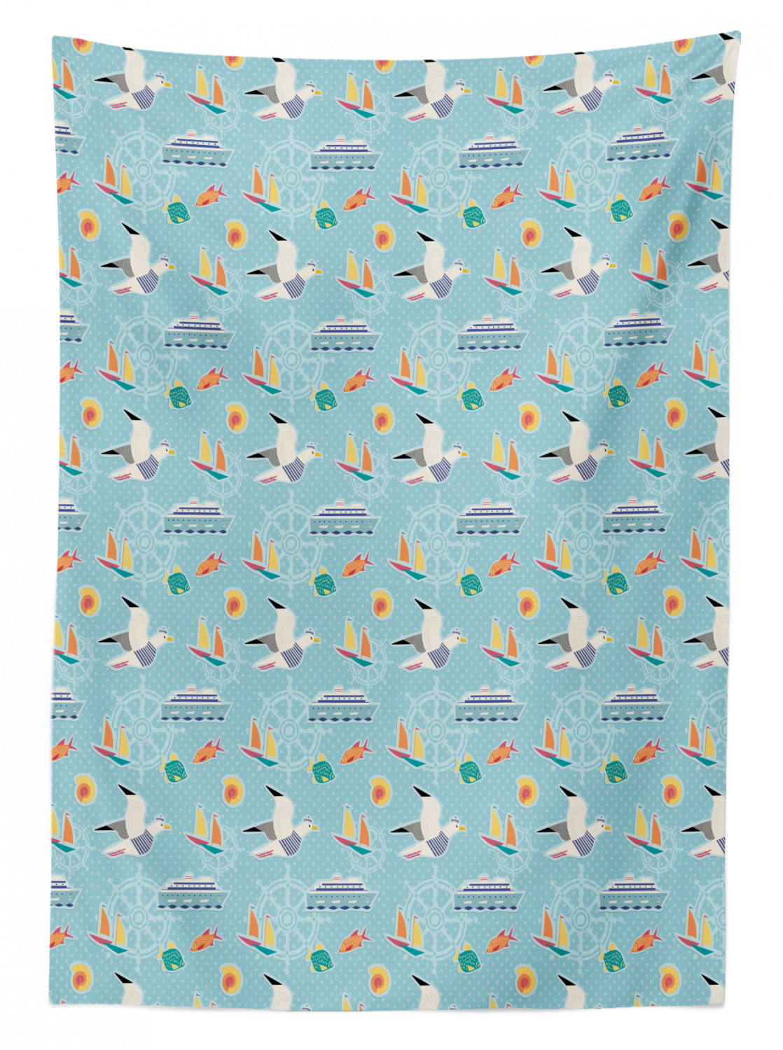 thumbnail 128 - Ambesonne Marine Pattern Tablecloth Table Cover for Dining Room Kitchen