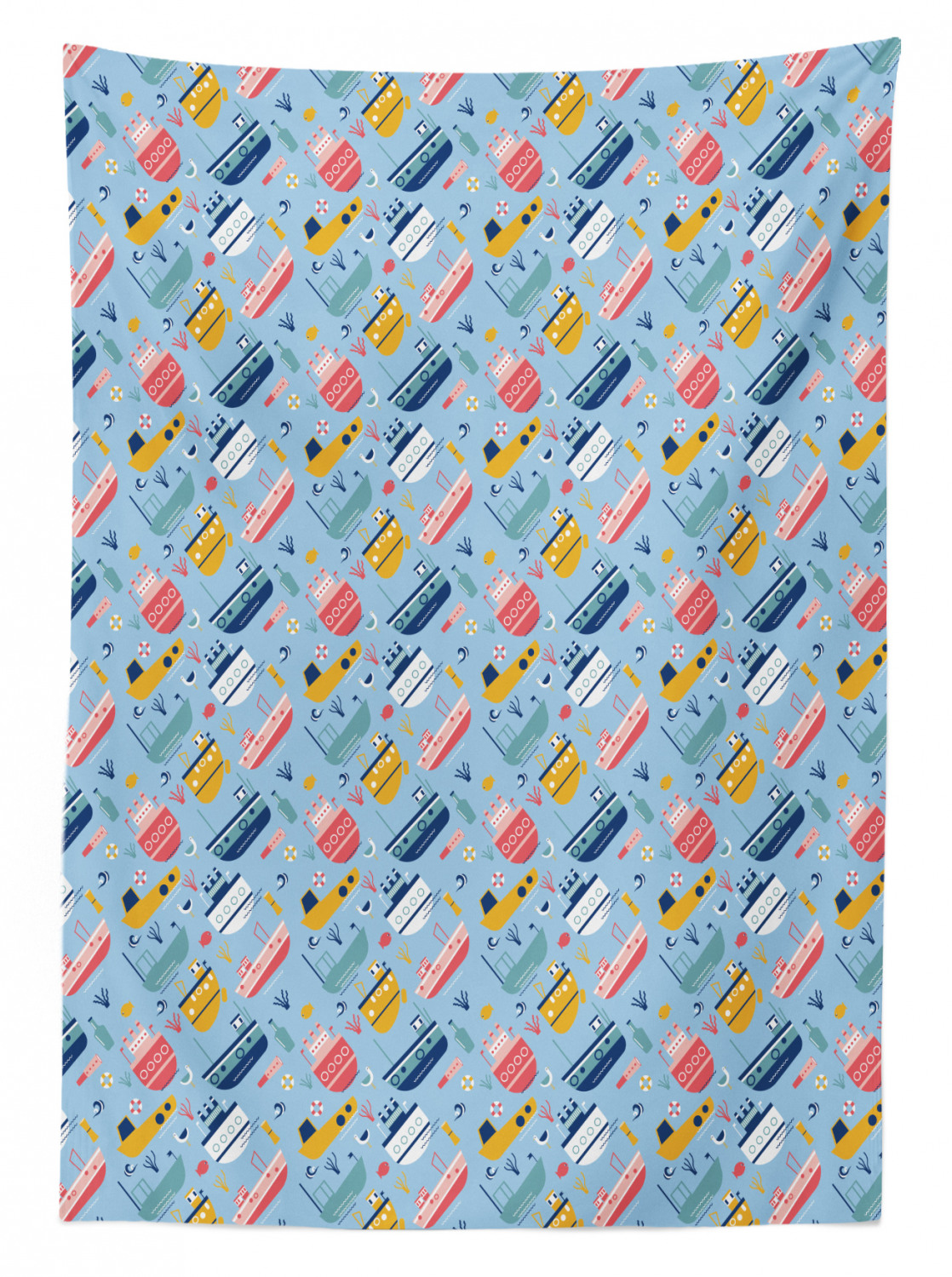 thumbnail 32 - Ambesonne Marine Pattern Tablecloth Table Cover for Dining Room Kitchen