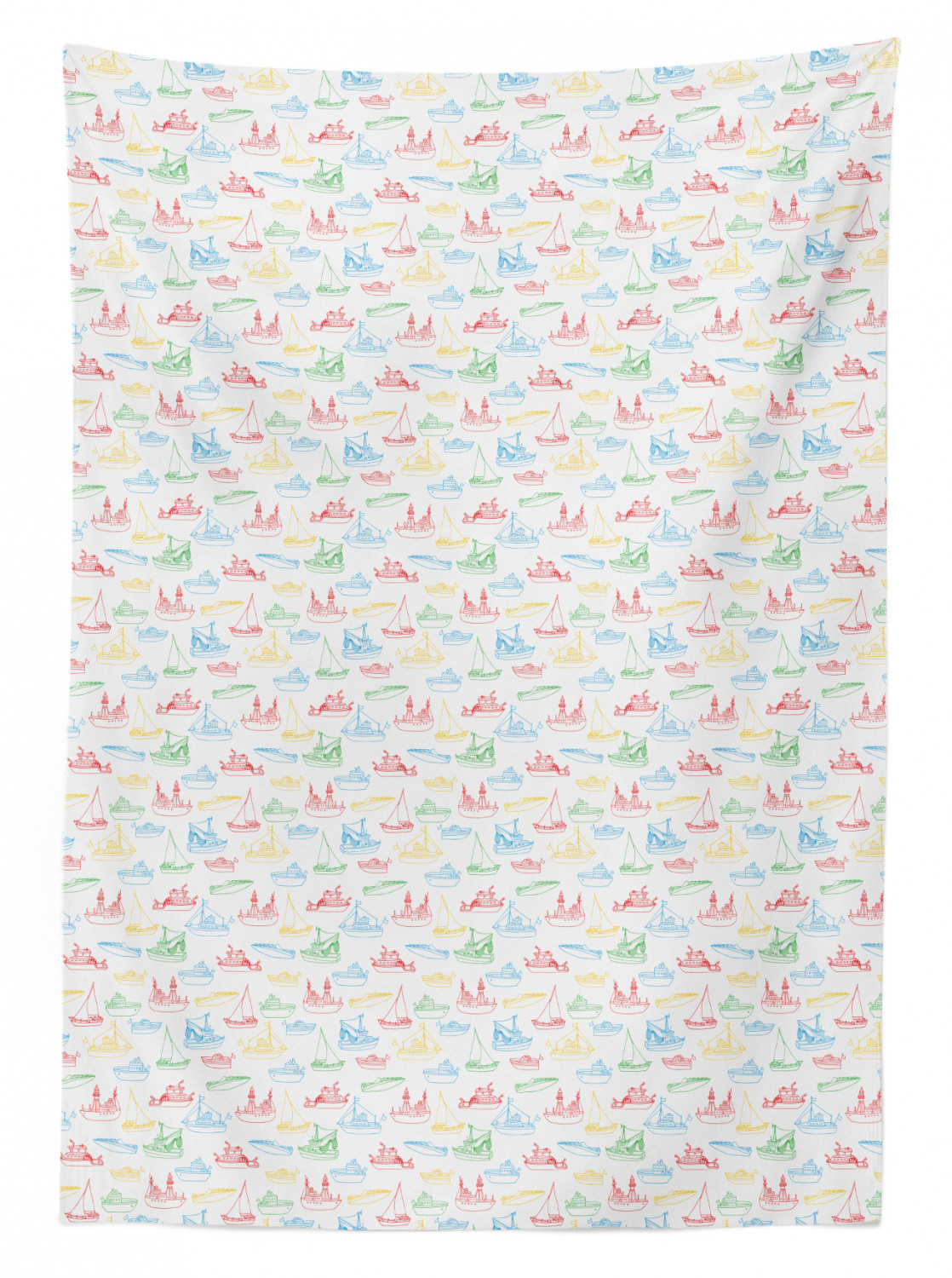 thumbnail 173 - Ambesonne Marine Pattern Tablecloth Table Cover for Dining Room Kitchen