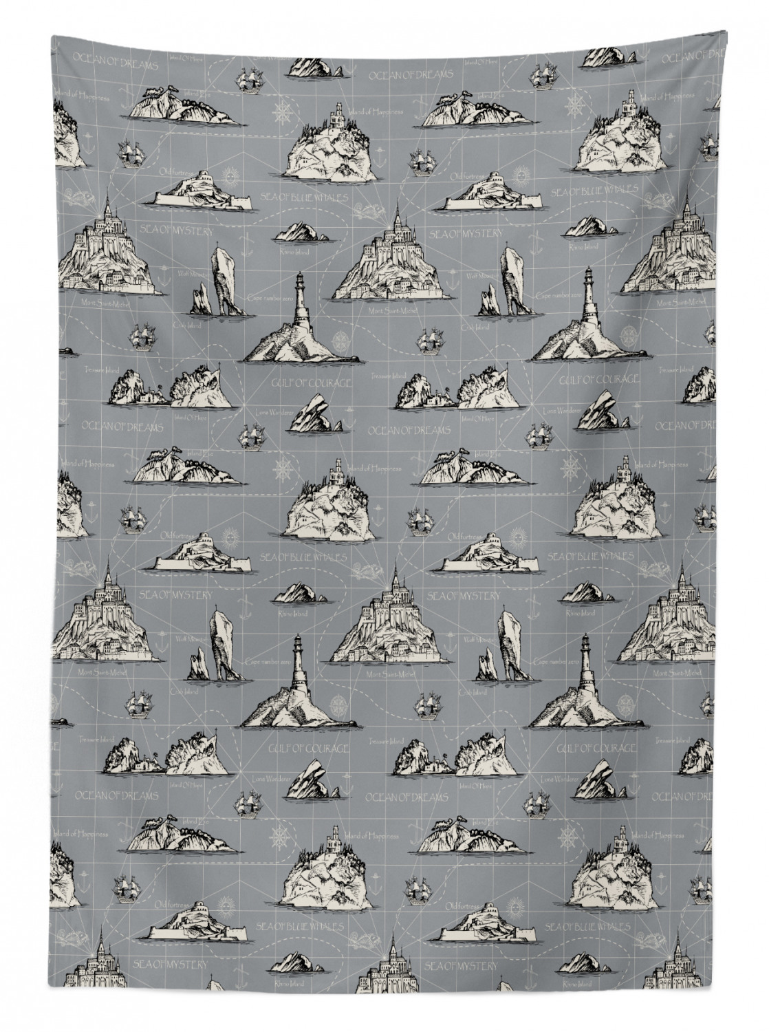 thumbnail 152 - Ambesonne Marine Pattern Tablecloth Table Cover for Dining Room Kitchen