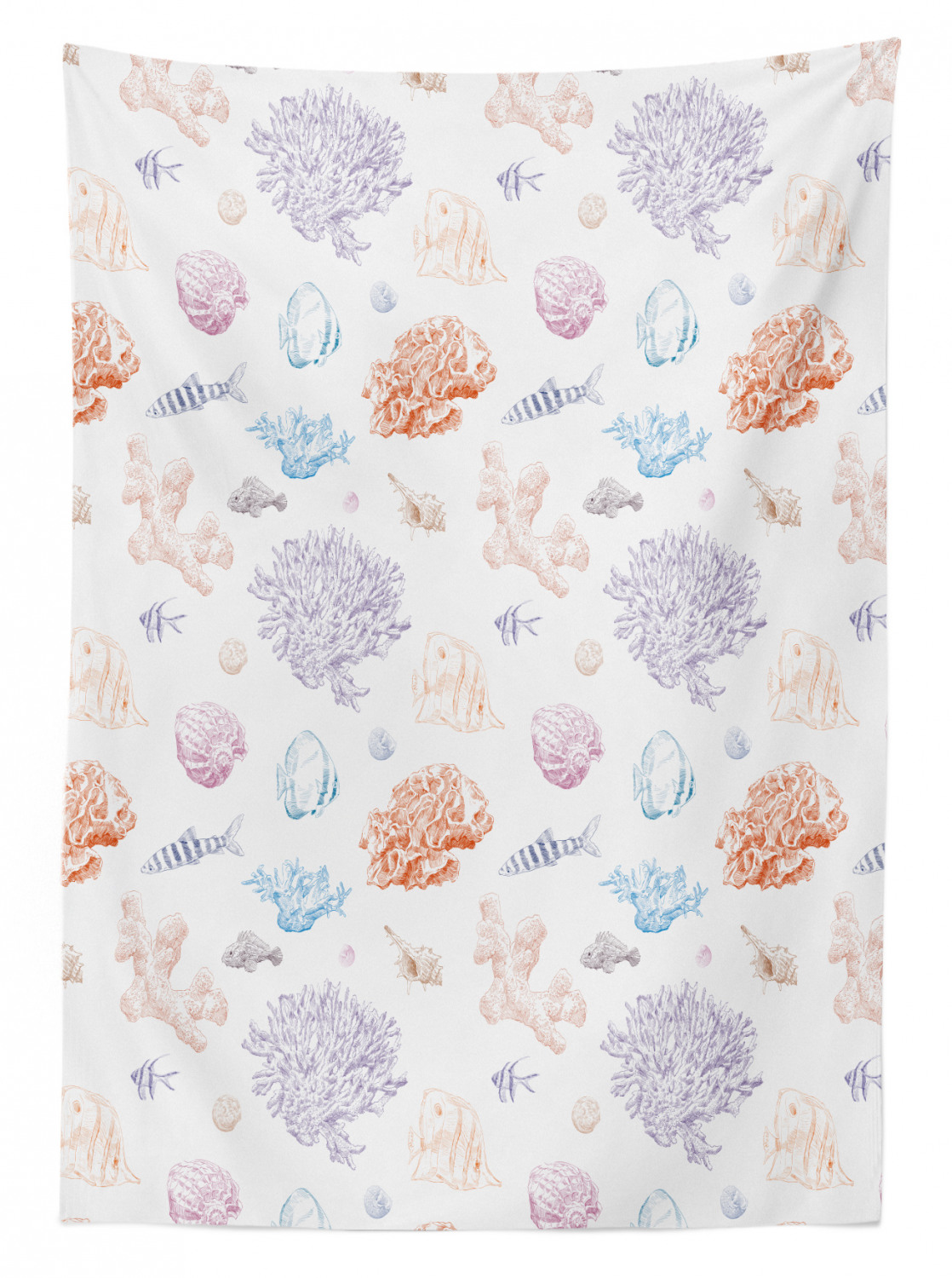 thumbnail 20 - Ambesonne Marine Pattern Tablecloth Table Cover for Dining Room Kitchen