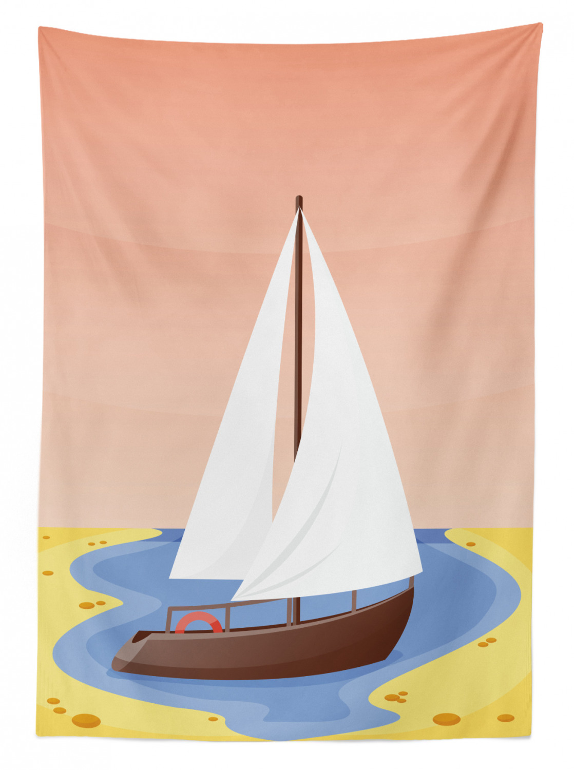 thumbnail 98 - Ambesonne Marine Pattern Tablecloth Table Cover for Dining Room Kitchen
