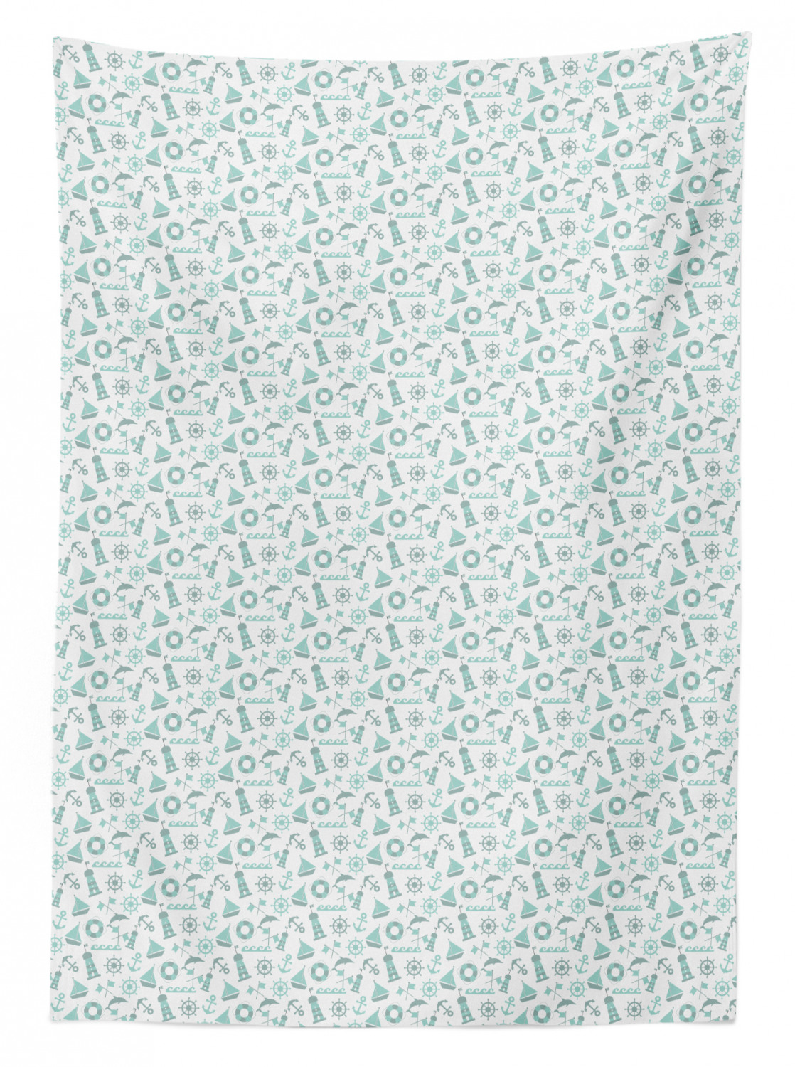 thumbnail 101 - Ambesonne Marine Pattern Tablecloth Table Cover for Dining Room Kitchen