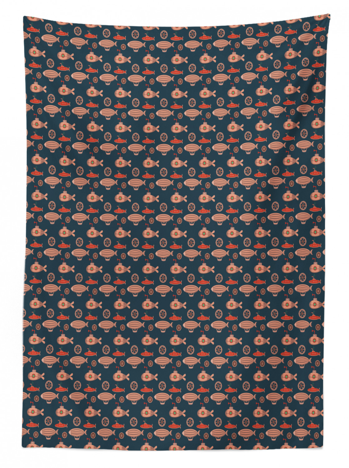 thumbnail 149 - Ambesonne Marine Pattern Tablecloth Table Cover for Dining Room Kitchen