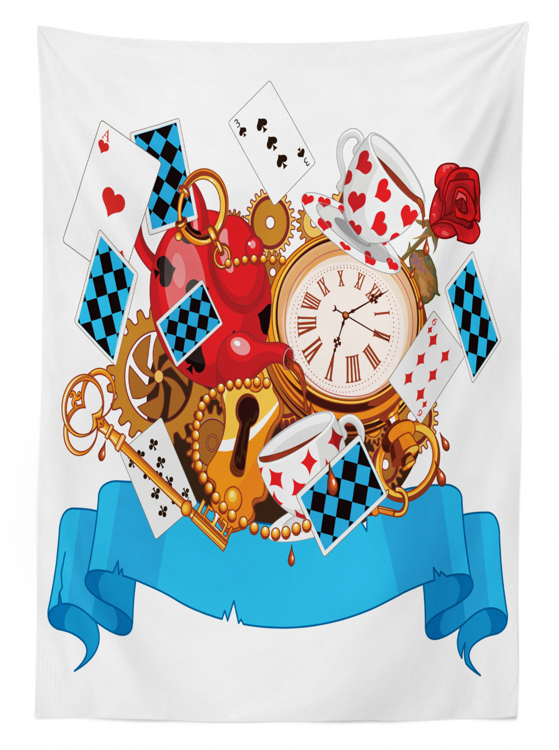Alice In Wonderland Tablecloth Ambesonne 3 Sizes