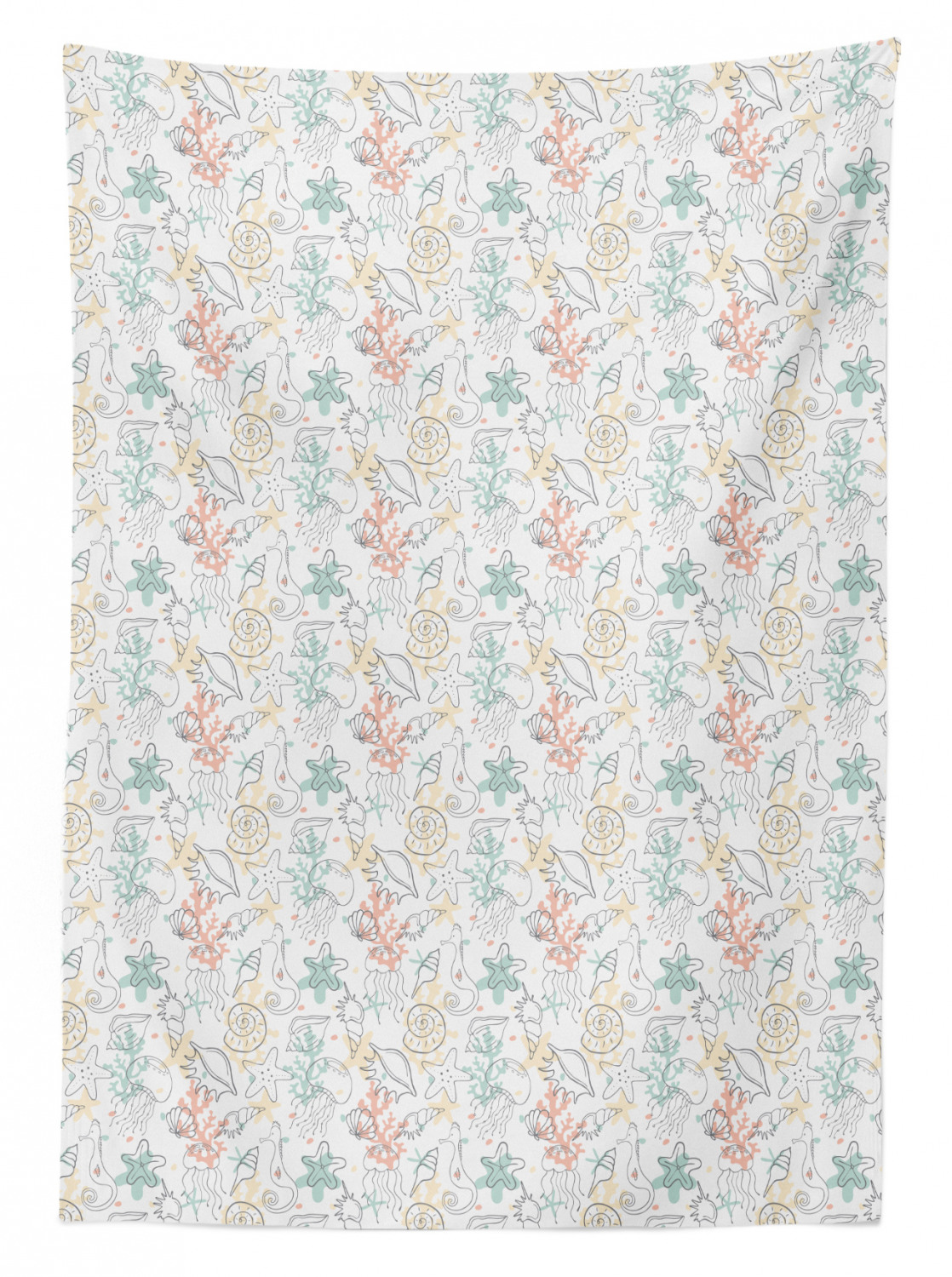 thumbnail 158 - Ambesonne Marine Pattern Tablecloth Table Cover for Dining Room Kitchen
