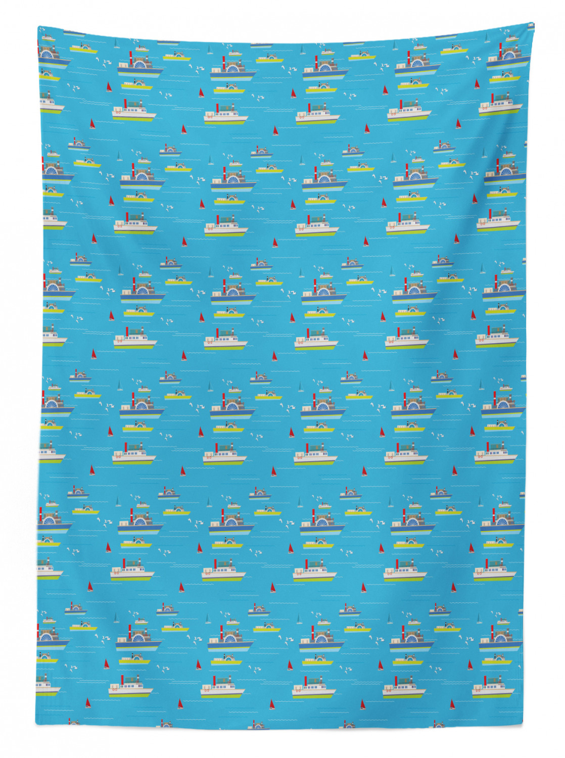 thumbnail 143 - Ambesonne Marine Pattern Tablecloth Table Cover for Dining Room Kitchen