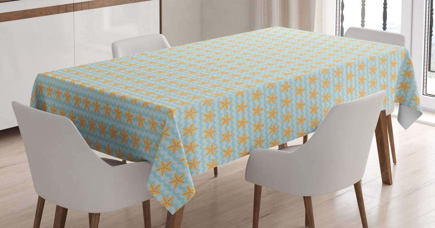 thumbnail 34 - Ambesonne Marine Pattern Tablecloth Table Cover for Dining Room Kitchen