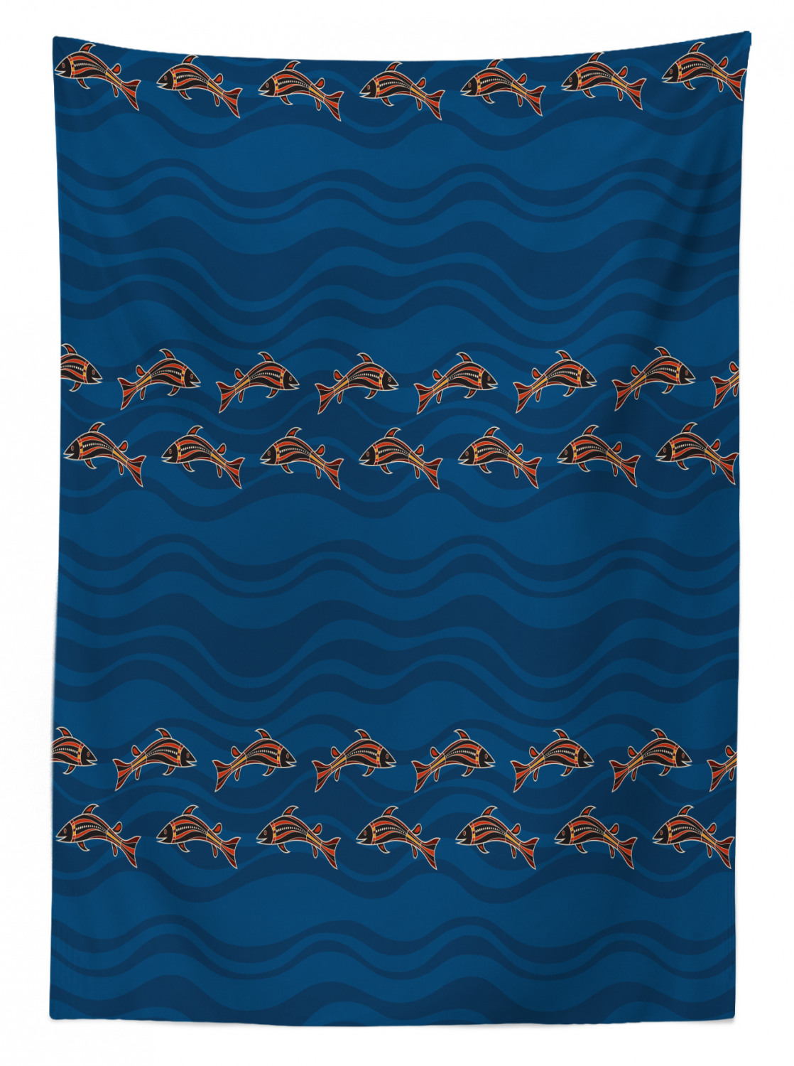 thumbnail 161 - Ambesonne Marine Pattern Tablecloth Table Cover for Dining Room Kitchen