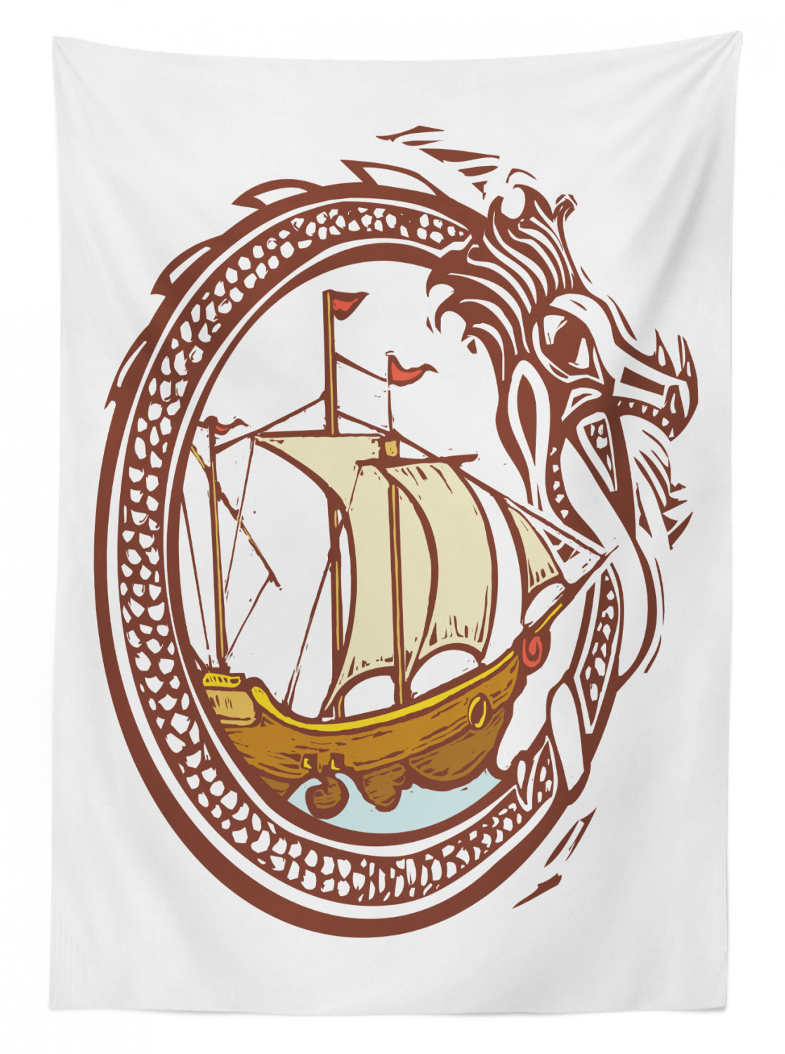 thumbnail 110 - Ambesonne Marine Pattern Tablecloth Table Cover for Dining Room Kitchen