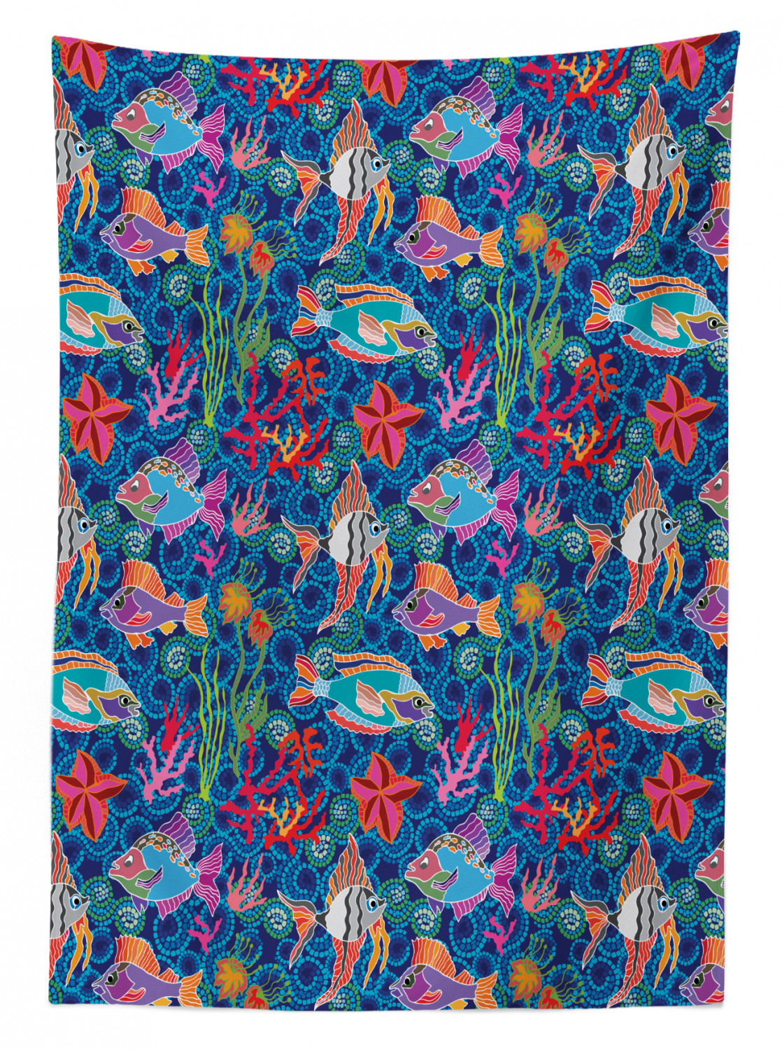 thumbnail 50 - Ambesonne Marine Pattern Tablecloth Table Cover for Dining Room Kitchen