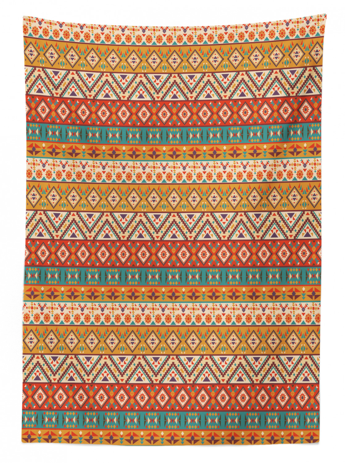 3 Home Decor Trends For Spring Brittany Stager: Aztec Tablecloth Ambesonne 3 Sizes Rectangular Table Cover