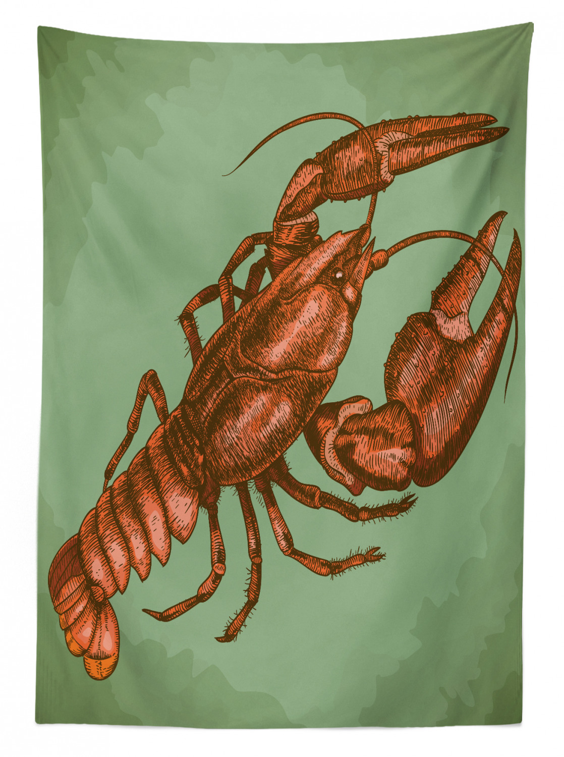 Lobster-Outdoor-Picnic-Tablecloth-in-3-Sizes-Washable-Waterproof thumbnail 8