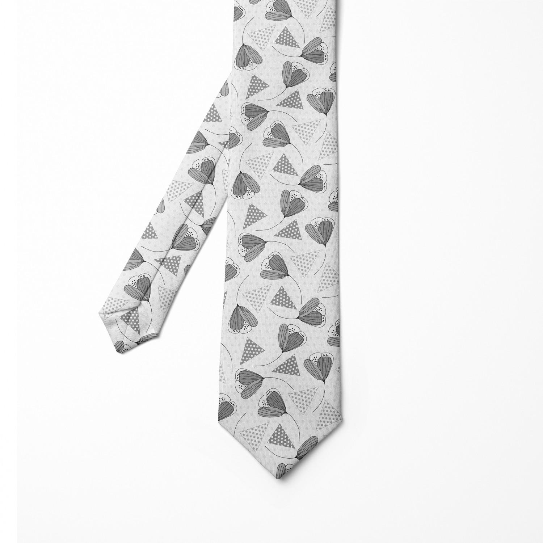 Nostalgic Leafy Motif Art Ambesonne Mens Tie Grey Pink and Pale Mauve 3.7