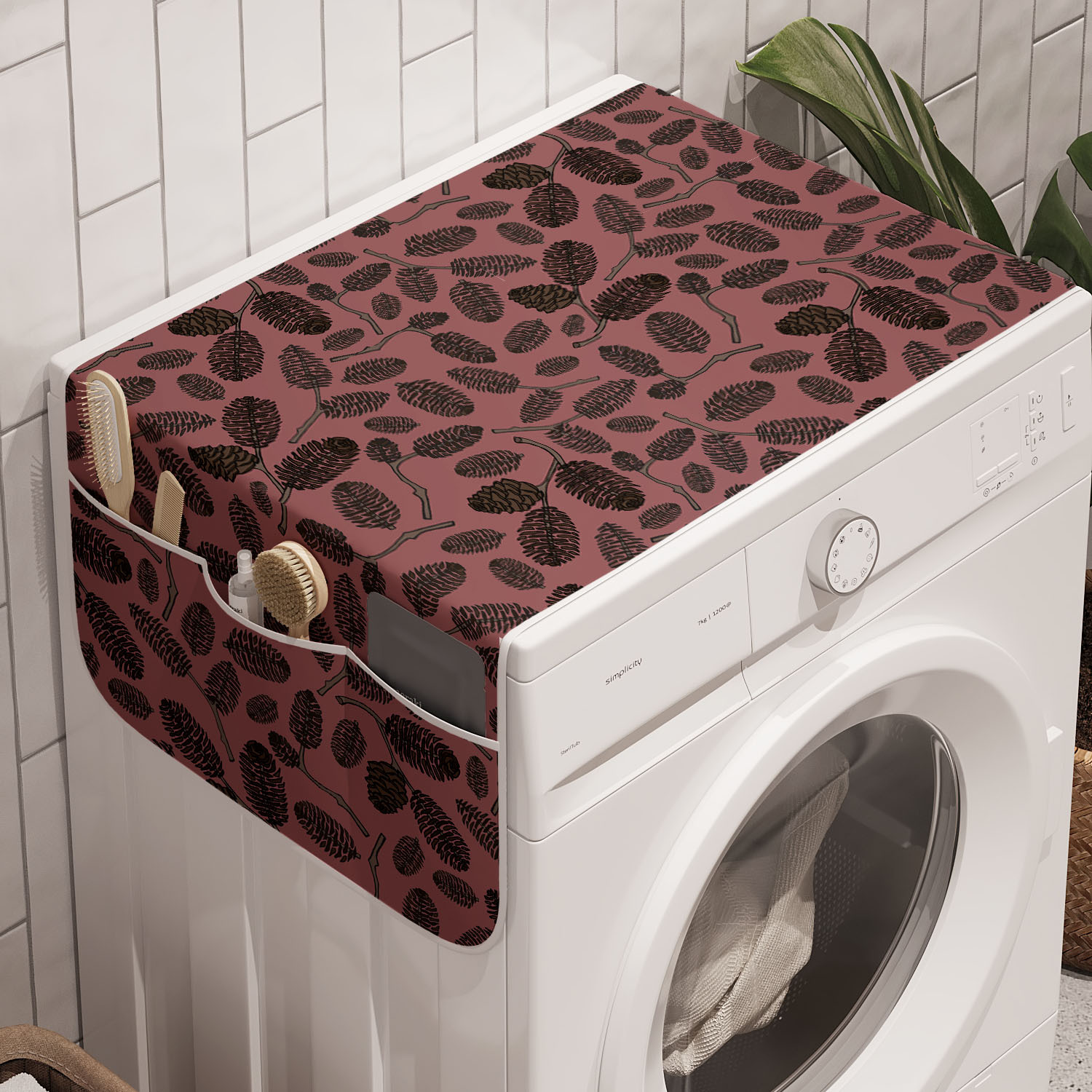 Ambesonne Abstract Graphic Washing Machine Organizer Cover For Washer Dryer Ebay