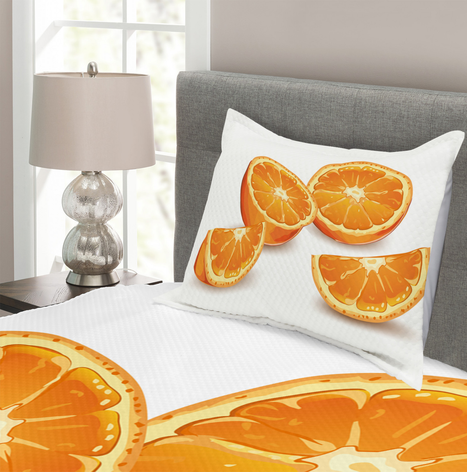 Gesundheit Orange Zitrus Kunst Druck Natur Wandteppich und Tagesdecke