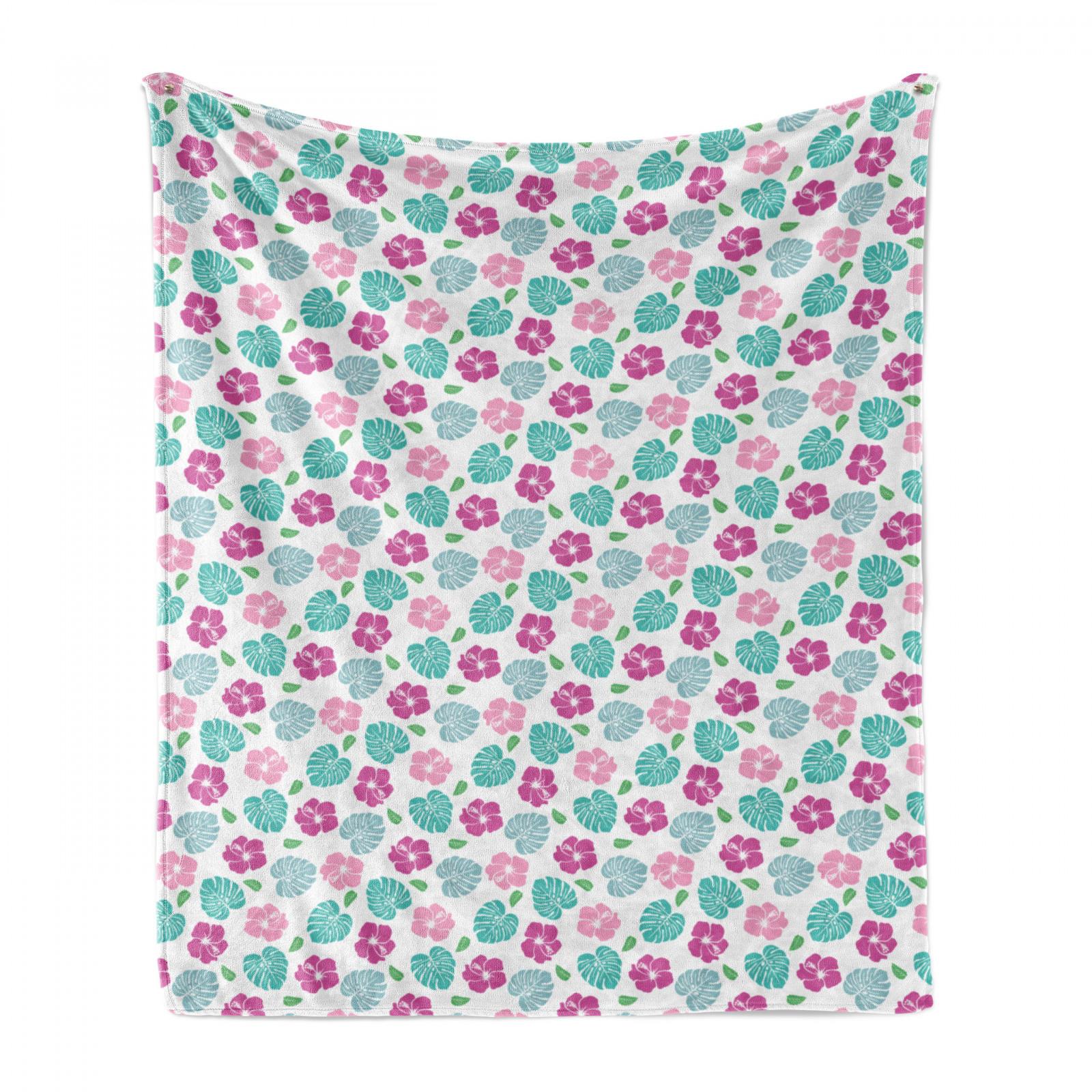 Tropical Soft Flannel Fleece Blanket Flower Garden Art