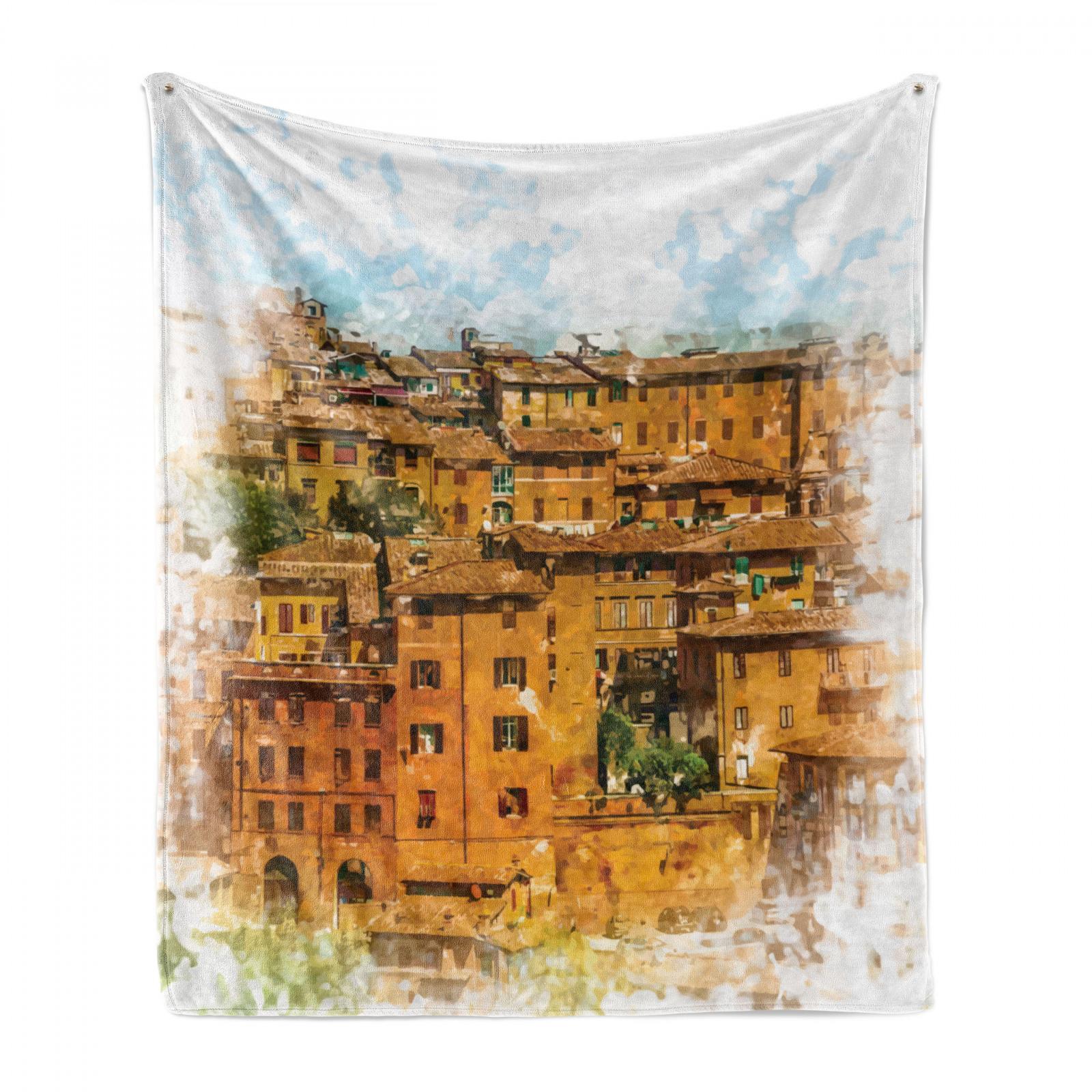 Italienisch Weich Flanell Fleece Decke Historische Italienische Stadt