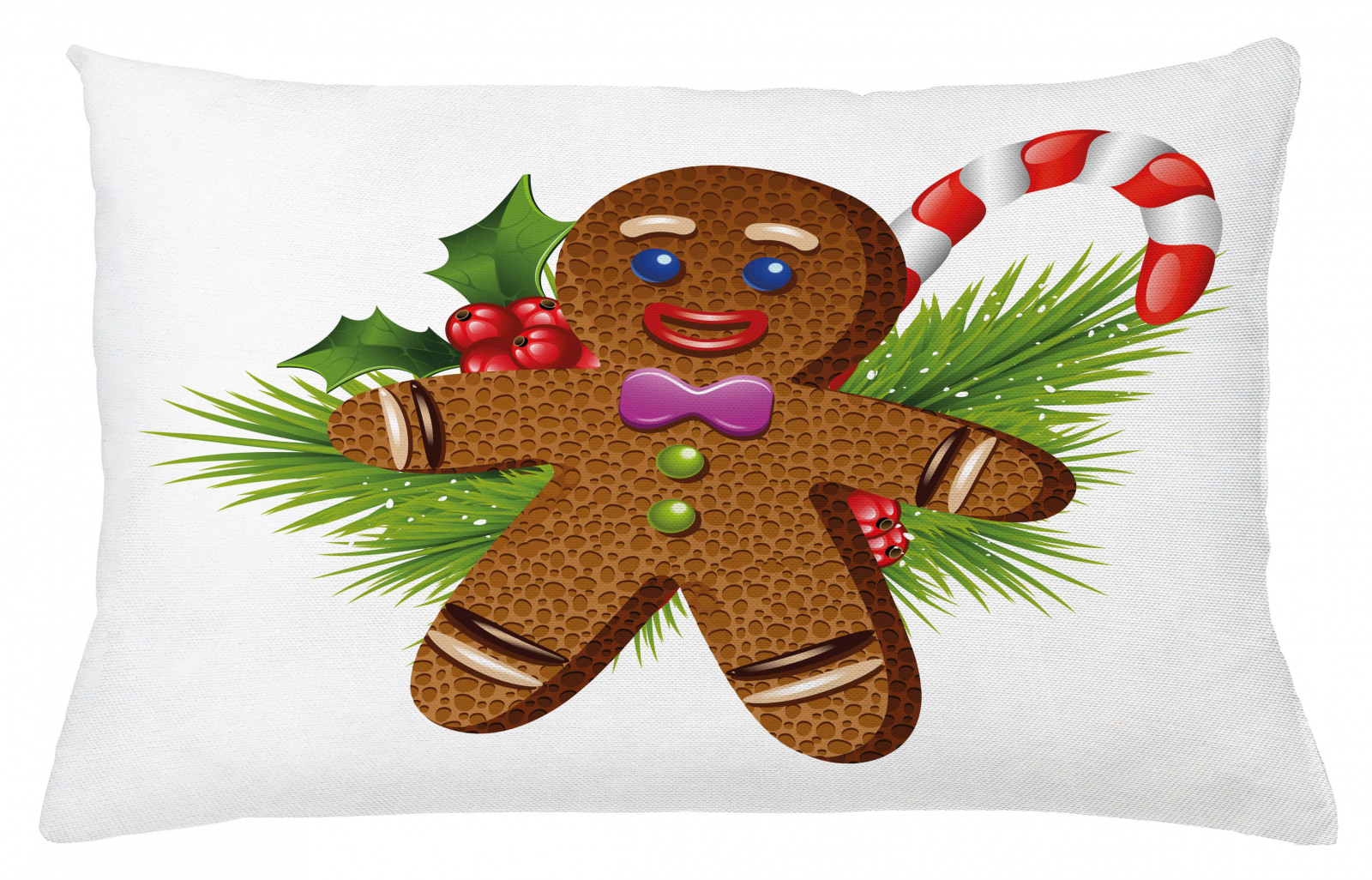 Gingerbread Man Throw Pillow Cushion Cover Christmas Ebay