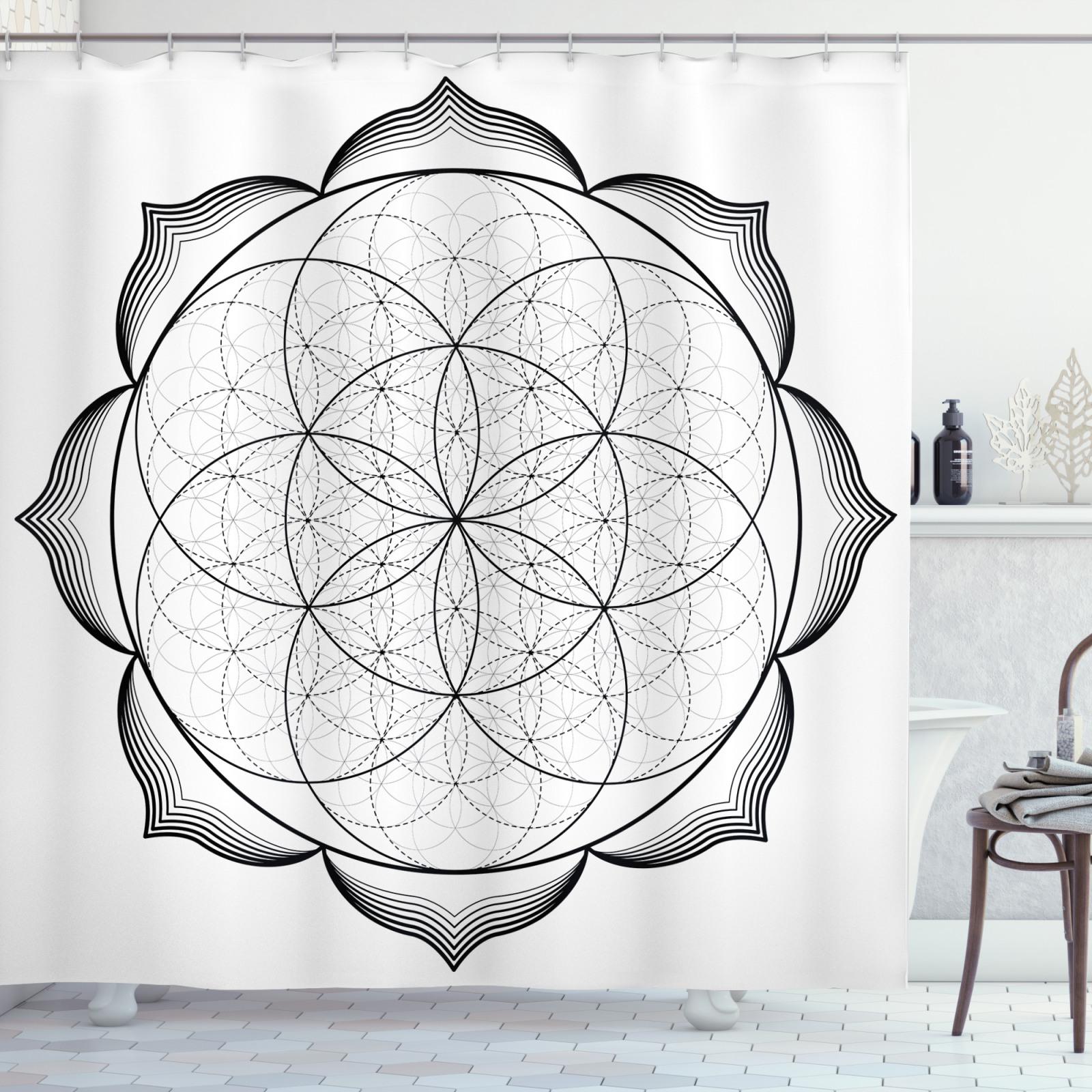 Mandala Wandteppich und Tagesdecke Alter Baum des Lebens-Zeichen Druck