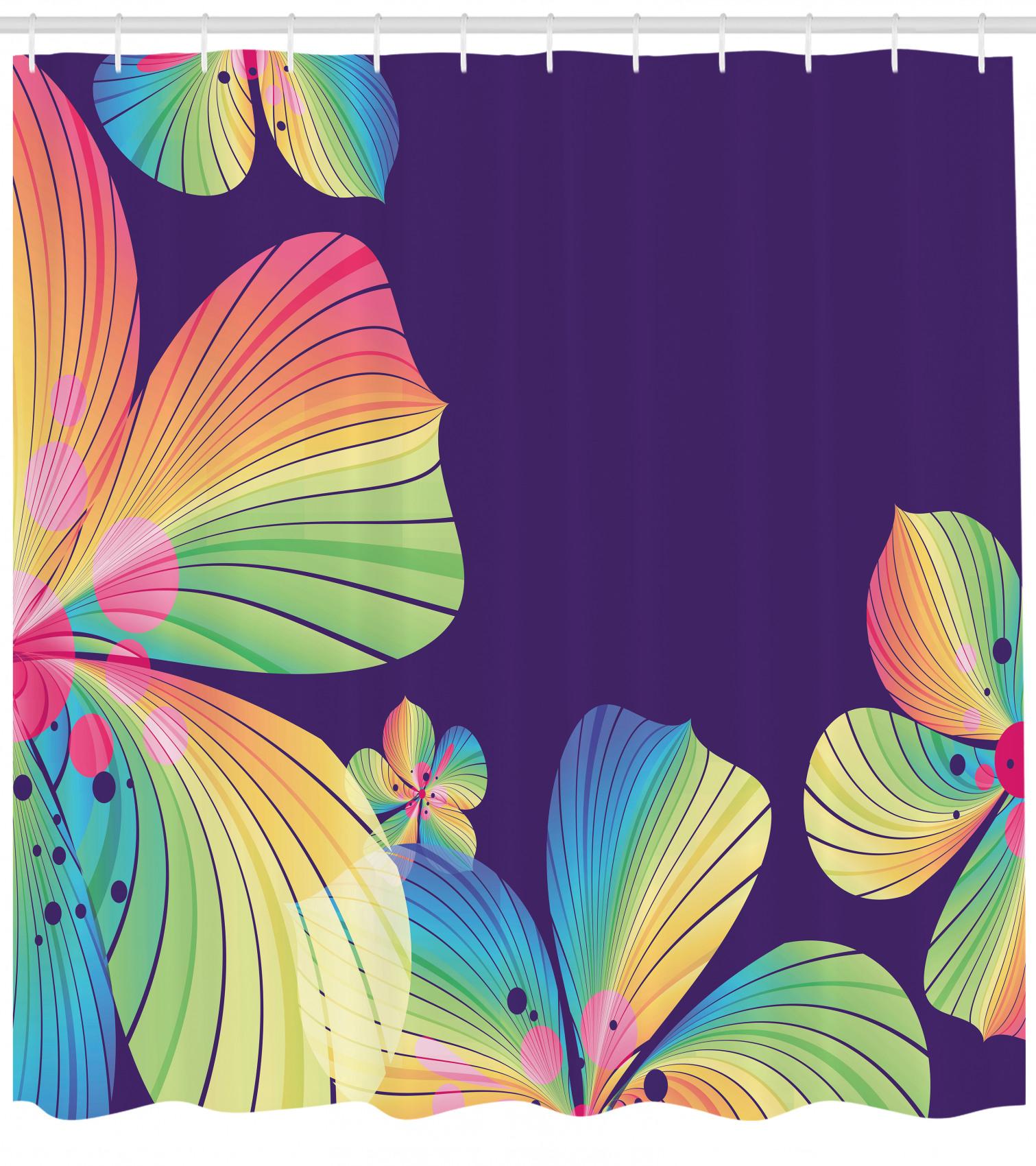 miniature 4 - Tropical Rideaux de Douche Résumé Big Fleur exotique