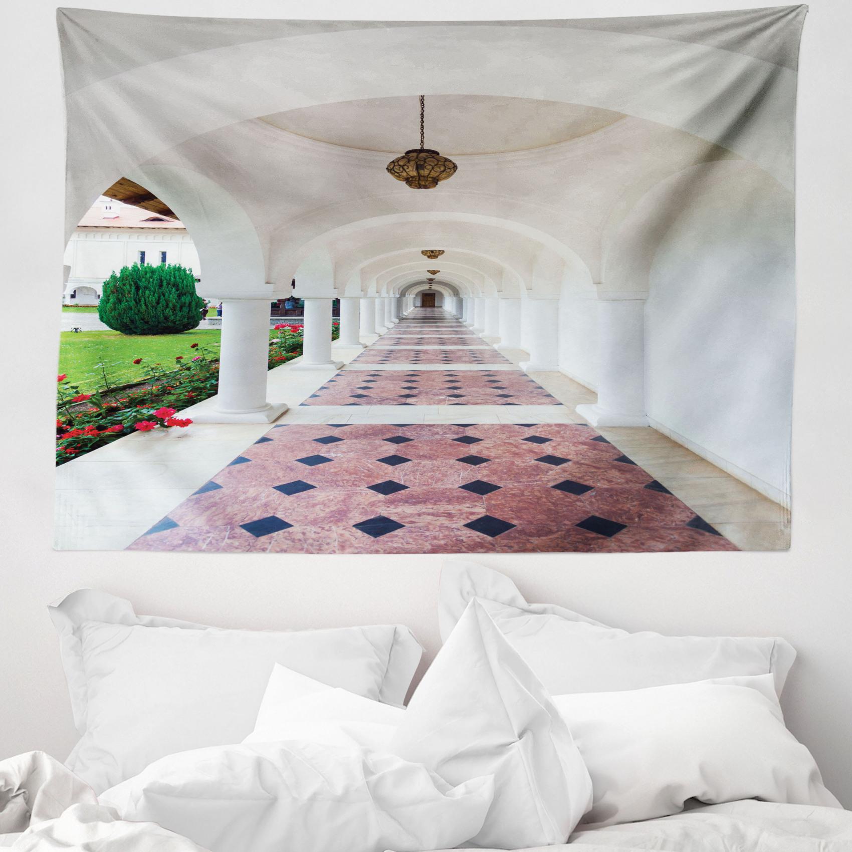 Bianca Arazzo Arco Colonnato Corridoio Ebay