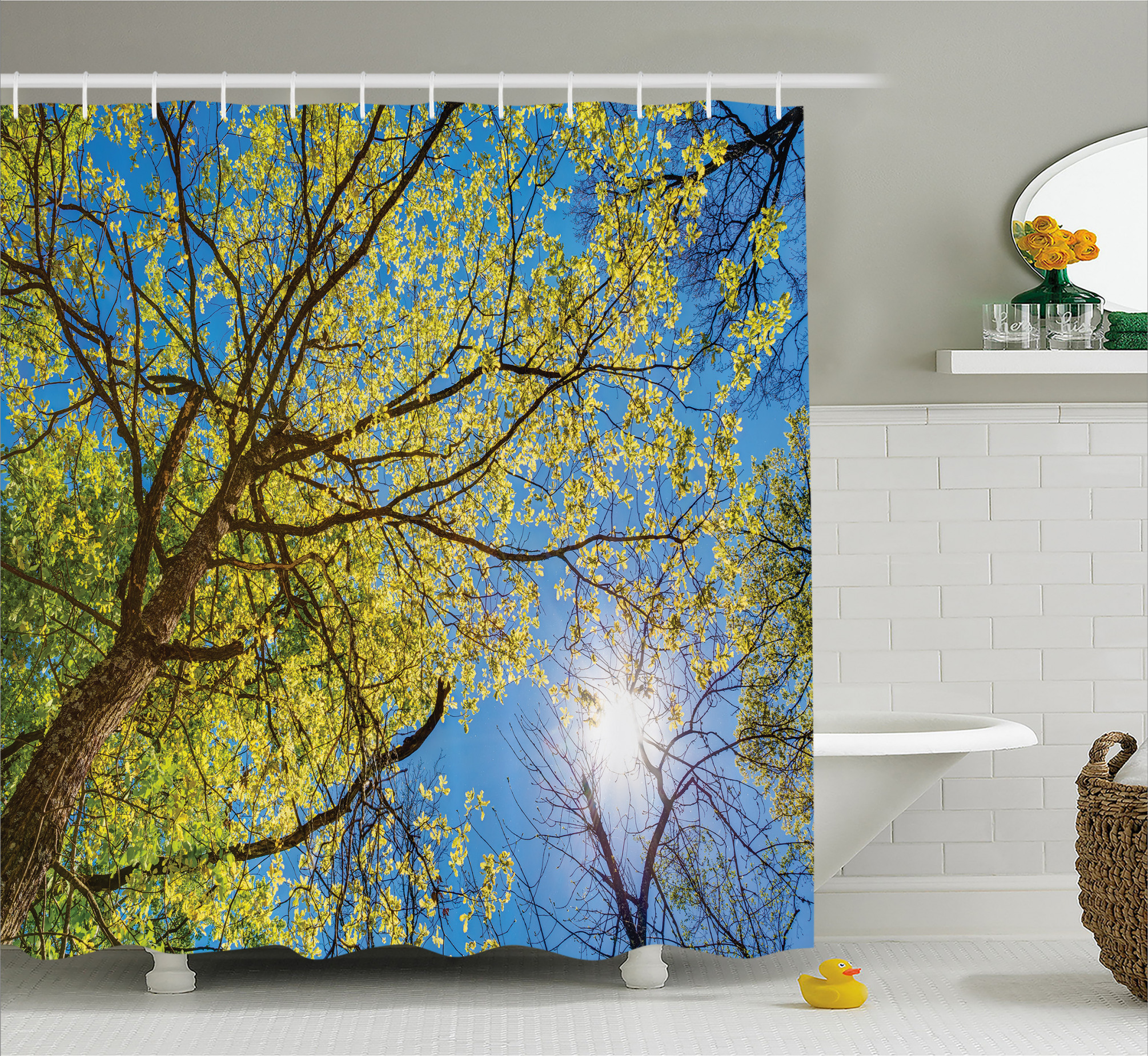3990 Pastoral Tree Branch Shower Curtain