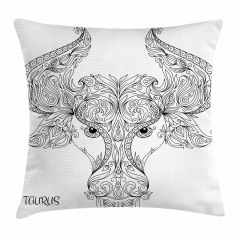 Astrology Taurus Sign Pillow Cover