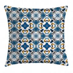 Portuguese Tilework Pillow Cover
