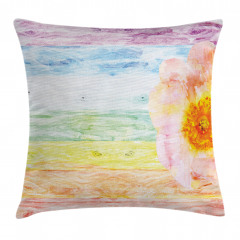 Summer Time Floral Roses Pillow Cover