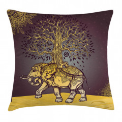 Asian Elephant in Nature Pillow Cover