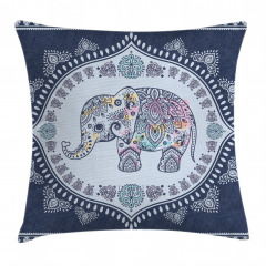 Bohemian Oriental Figure Pillow Cover