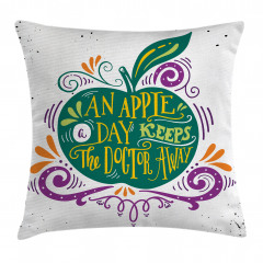 Eat Healthy Quote Pillow Cover