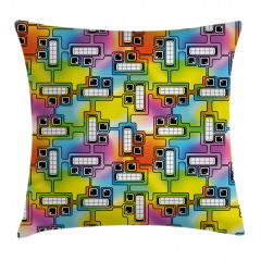 Fun Characters Pattern Pillow Cover