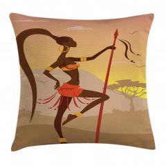 Savannah Amazon Girl Retro Pillow Cover