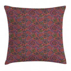Asian Leaves Eastern Pillow Cover