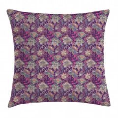 Flowers and Asian Mehndi Pillow Cover