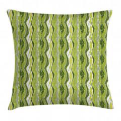 Digital Leaf Floral Lines Pillow Cover