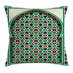Moroccan Arch with Floral Pillow Cover