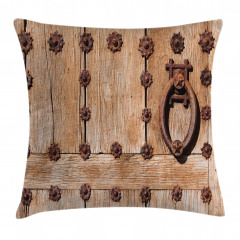 Rusty Spanish Entrance Pillow Cover