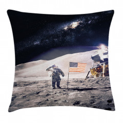 Astronaut on Moon Mission Pillow Cover