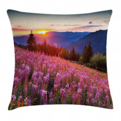 Spring Mountains Floral Pillow Cover