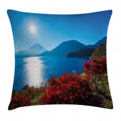 Sunny Autumn Mountain Pillow Cover